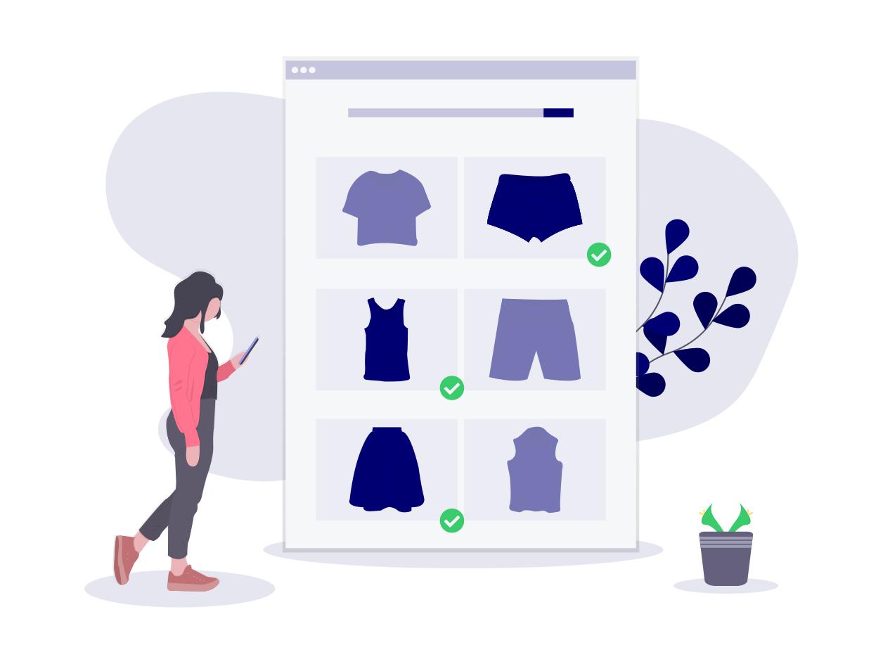 Onlinehandel bietet Shopping-Angebote unterwegs am Smartphone