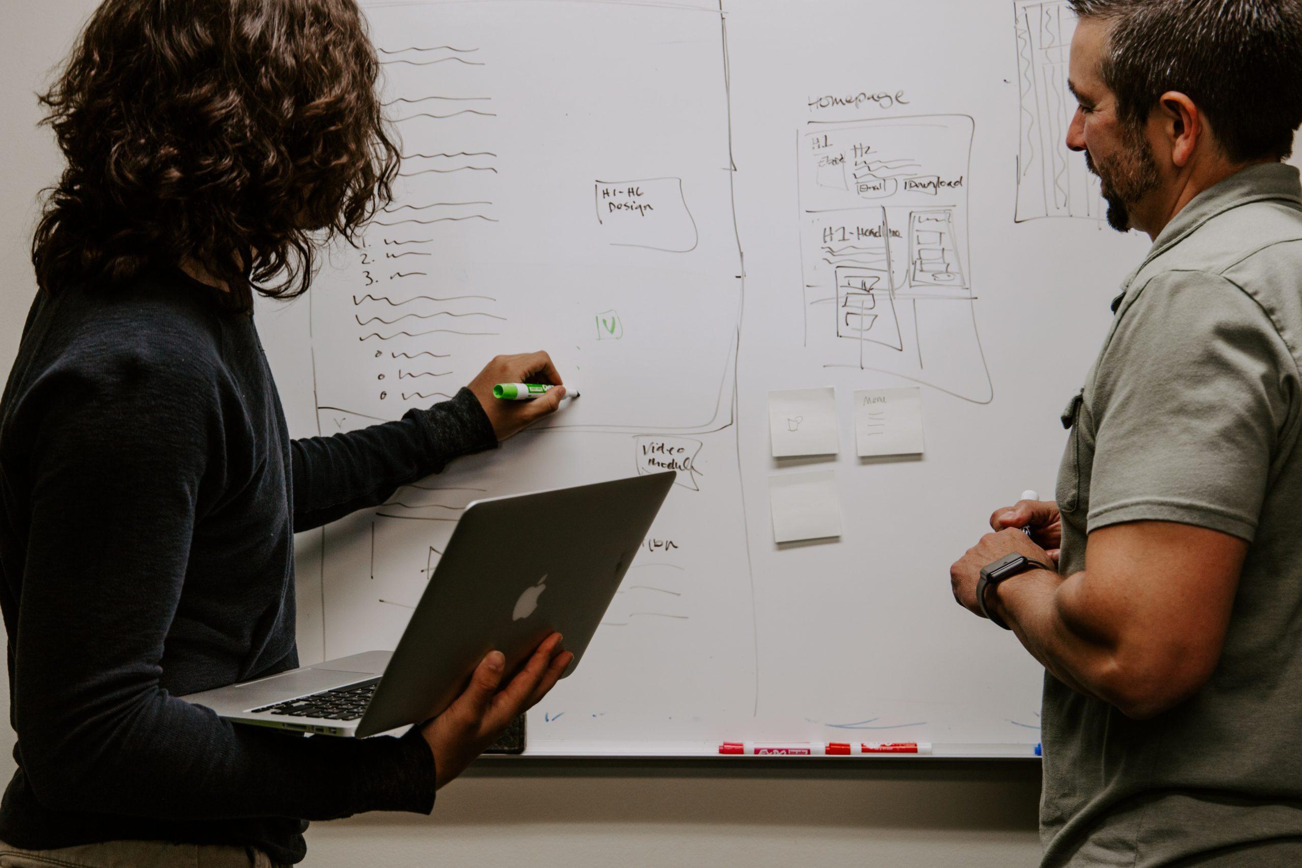 Strategieberatung am Whiteboard