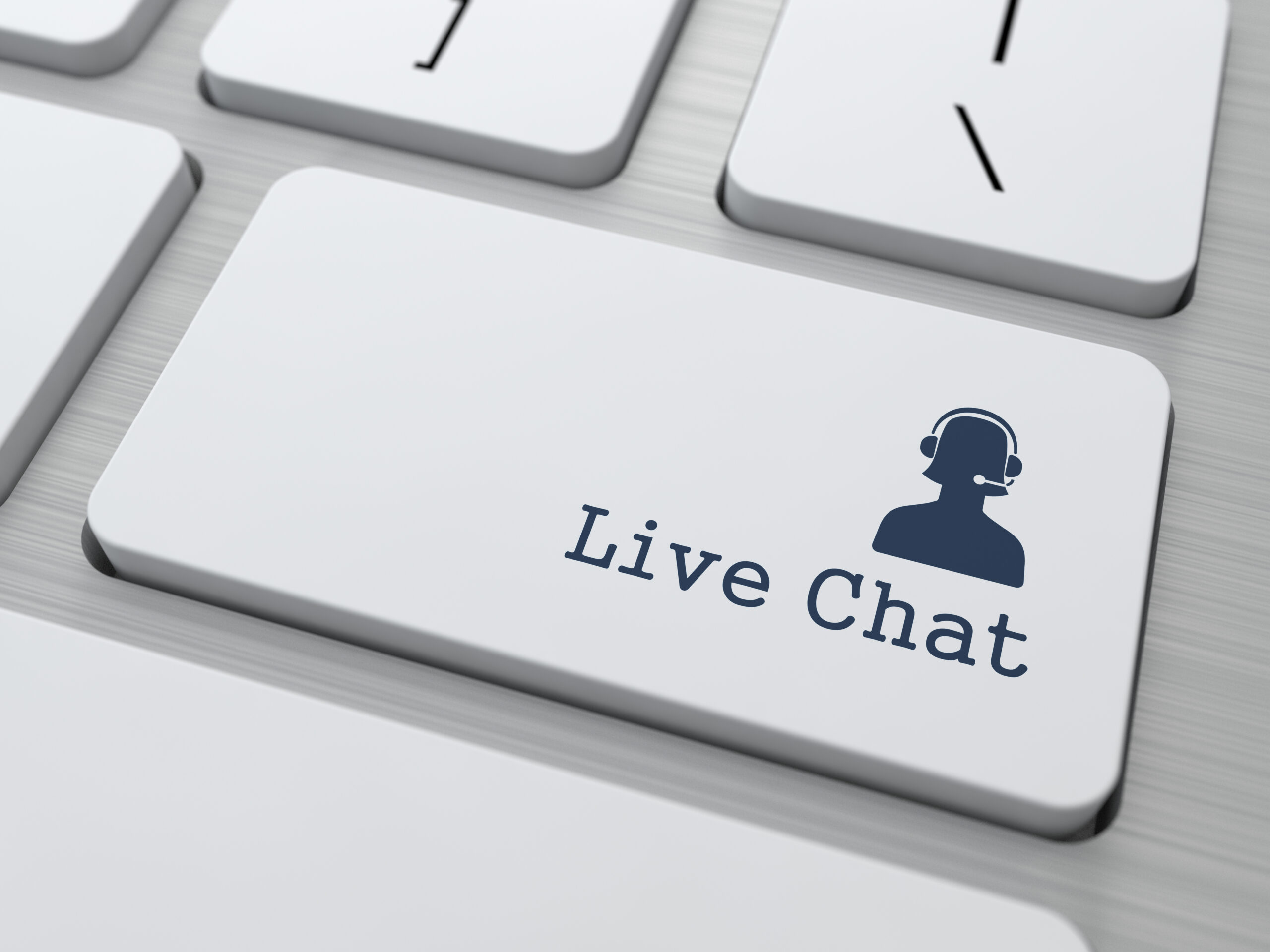 """Tastatur mit Taste """"Live Chat"""""""