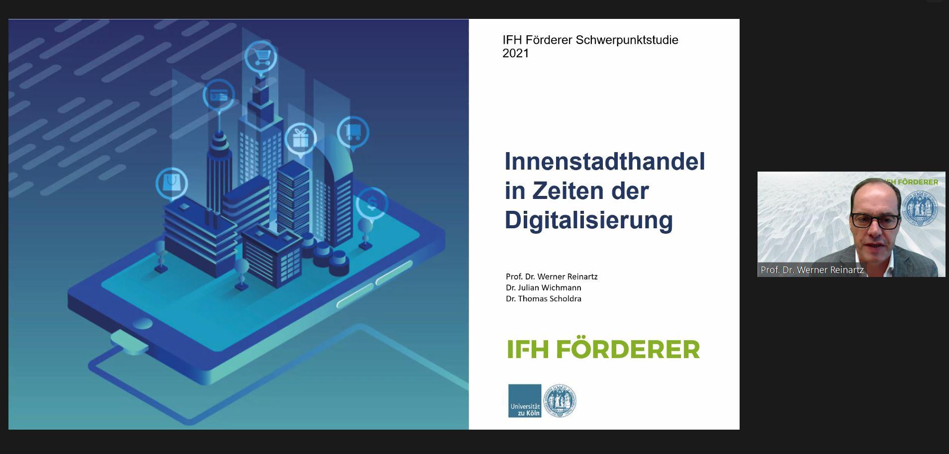 FASZINATION HANDEL 2021: Digitaler Vortrag von Prof. Dr. Werner Reinartz